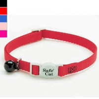 "Coastal Style 7001 Safe Cat Breakaway Cat Collar 3/8"" x 8-12"" Black"