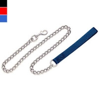 Coastal Style 5503 Titan 4' x 3.00 mm Heavy Chain Lead with Nylon Handle Black