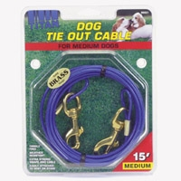 Coastal 15' Medium Tie Out Cable Up to 50 lbs.