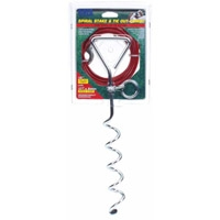 Coastal Titan Spiral Stake & 15' Heavy Tie Out Combo Up to 80 lbs.
