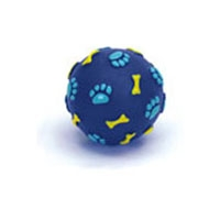 Coastal 82512R Bone Print Ball Dog Toy