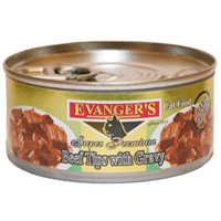 Evanger's Beef Tips with Gravy Cat, 5.5 Oz