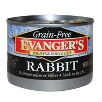 Evanger's 100% Rabbit Dog/Cat, 24/6 Oz