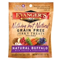 Evanger's Grain Free Buffalo With Fruits & Veggies Jerky Treats