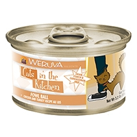 Weruva Chicken & Turkey Recipe Au Jus 24/3.2oz Cans Fowl Ball