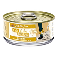 Weruva Chicken & Salmon Recipe Au Jus 24/6.0 oz. Cans Goldie Lox