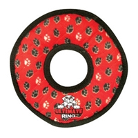 VIP Products Tuffy Ultimate Gear Ring Red Paws
