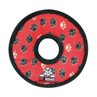 VIP Products Tuffy Jr Gear Ring Red Paws