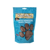Real Meat Dog Jerky Treats Fish/Venison 4oz