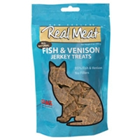 Real Meat Cat Jerky Fish/Venison 3oz