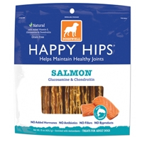 Dogswell HAPPY HIPS® Salmon Jerky with Whitefish, Glucosamine & Chondroitin