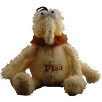 Multipet Plush Flea Dog Toy Medium 6""
