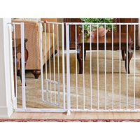 CARLSON MAXI EXTRA TALL WALK THROUGH GATE W/PET DOOR
