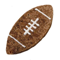 Pawsitely Gourmet Football shaped Cookie Chicken/Liver Flavored