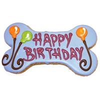 "Pawsitely Gourmet 6"" Happy Birthday Bone Gift Box Cookie"