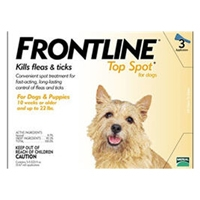 Frontline Flea and Tick Treatment for Dogs 0-22 pounds 3 Month Supply