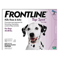 Frontline Flea and Tick Treatment for Dogs 45-88 pounds 3 Month Supply