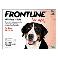 Frontline Flea and Tick Treatment for Dogs 89+ pounds 3 Month Supply