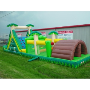 Tropical Obstacle Course, 70 ft. long
