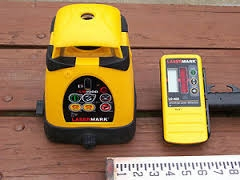 Laser Mark Transit Laser Level with Tri-pod and Rod