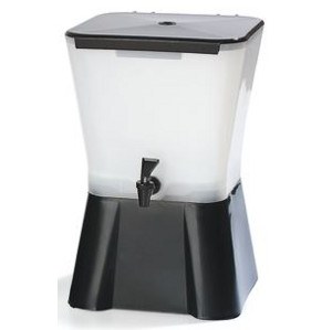 Square 3 Gallon Beverage Dispenser with Base