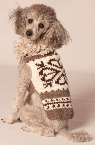 Chilly Dog Shearling Hearts Dog Sweater