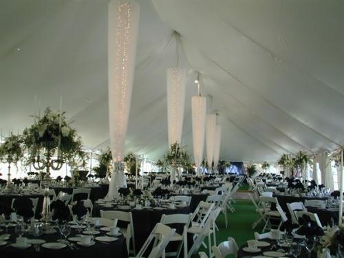 40 x 140 Pole Tent Interior