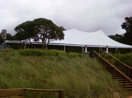 Tent, White Pole 30' x 60'