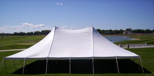 Tent, White Pole 40' x 100'