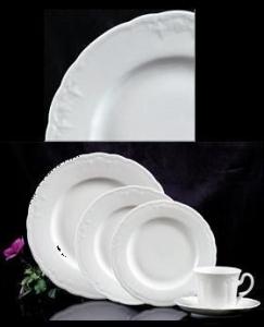 Plate, Bread and Butter/Dessert, White Sculpted Original