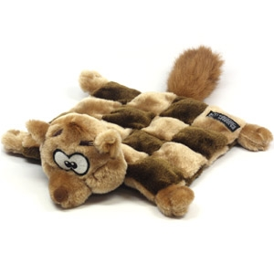 Kyjen® Plush Puppies® Squeaker Mat Squirrel Dog Toy
