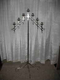 CANDLEABRA, 7 LIGHT SILVER OR BRASS