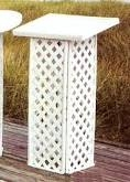 BOOK STAND WHITE LATTICE