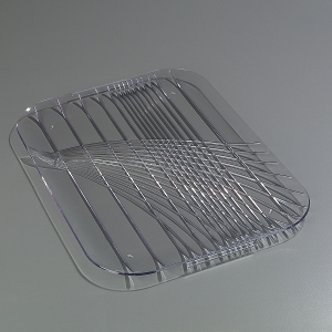 Serving Tray - 22 x 16, Clear Plastic