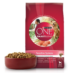 purina one smartblend sensitive systems dog food with real salmon douglas feed pet supply. Black Bedroom Furniture Sets. Home Design Ideas