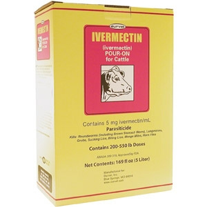 Durvet® Ivermectin® Pour-On for Cattle Dewormer