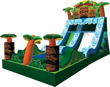 Ninja Jump, Tiki Falls Water Slide