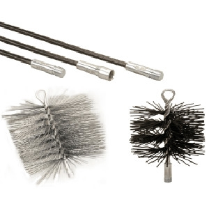 Chimney Brushes & Rods Cleaning Kit