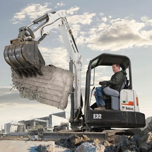 Bobcat E26 Compact Excavator (with Thumb)
