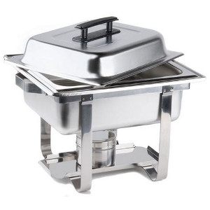 4 Qt. Economy Chafer Stainless Half Size Chafing Dish
