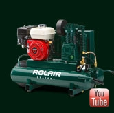 14CFM Wheel Barrel Style Air Compressor, Gas