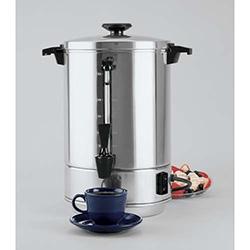 Coffeemaker, 55 cupAluminum