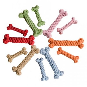 Harry Barker Cotton Rope Bone Dog Toy