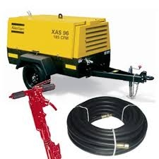 Air Compressor w/ 1 or 2 Jack Hammers