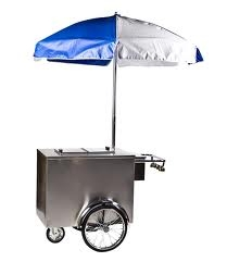 Ice Cream Cart w/Umbrella