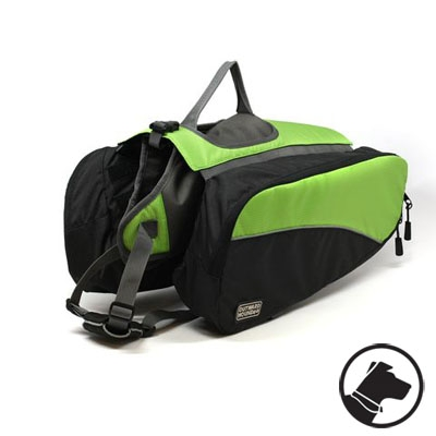 Outward Hound Dog Backpack Green