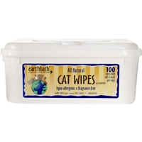 Earthbath Grooming Wipes - Hypo Allergenic Cat Wipes - 100 Ct.