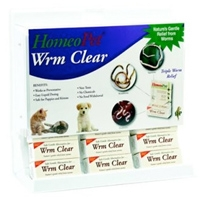 HomeoPet WRM Clear Center 15 piece display