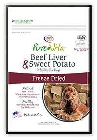Pure Vita Liver and Sweet Potato Freeze Dried Dog Treats