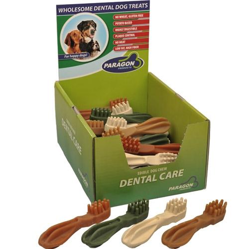 """Paragon Toothbrush Star Dental Dog Treat Large 5.9"""" 30 ct. Display Box"""